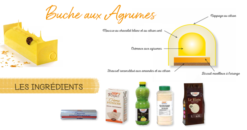 Buche aux agrumes